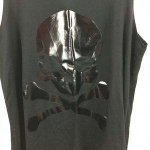 soulcycle Tops - SoulCycle Black on Black Skull Crop Tank Top XS